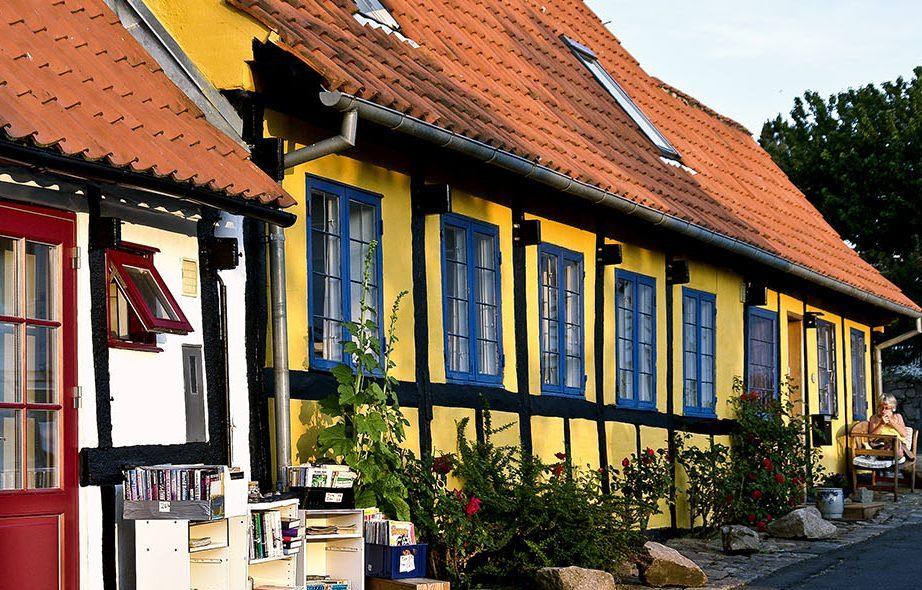 KARAKTERISTISKE HUS: De typiske husene i bindingsverk er noe mange av oss forbinder med Danmark.
