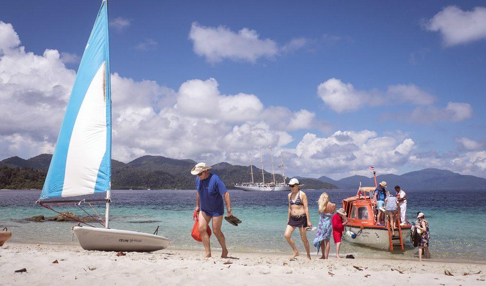 AKTIV: Star Cruise legger opp til mange aktiviteter både på land og ikke minst vann.