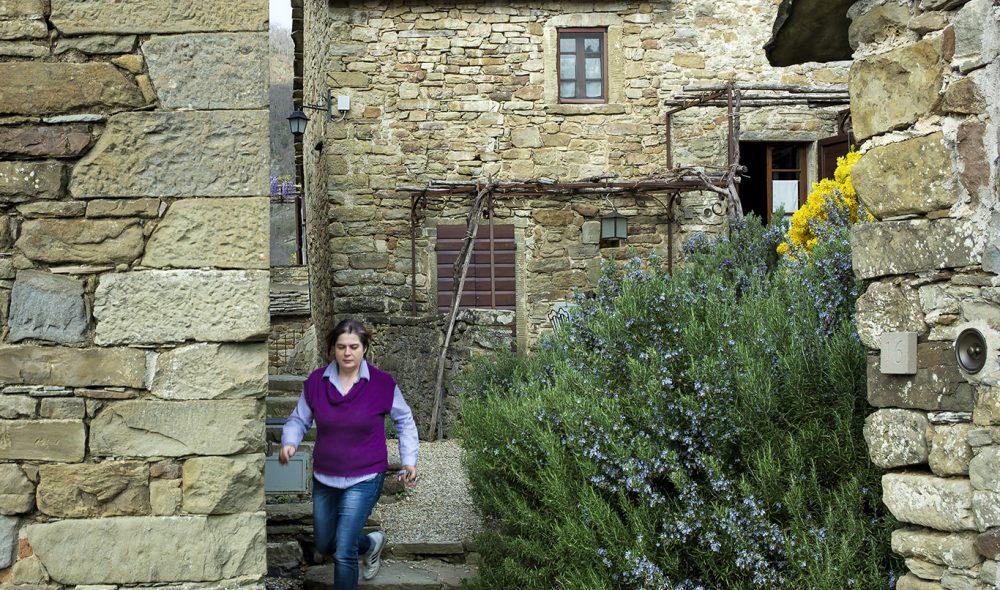 SOM EN LANDSBY: Borgo var organisert som en mini-landsby, med små smug mellom husene.