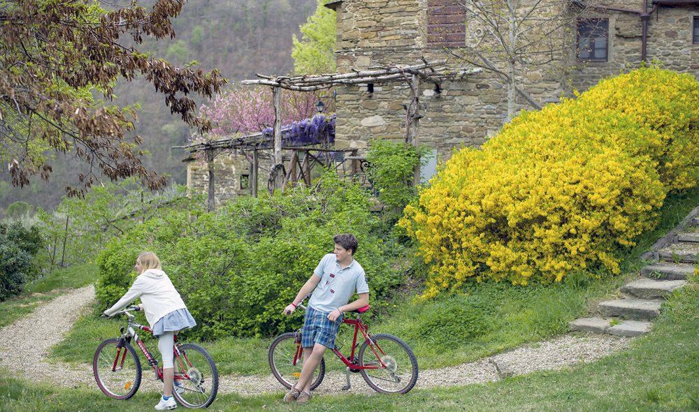 SYKKEL: Området rundt Borgo egner seg utmerket til sykkel-turer.