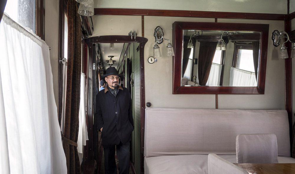 PÅ SPORET: I Stalin-museet i jernmannens hjemby Gori får du en omvisning i diktatorens gamle togsett, som inkluderer sovevognen hans.