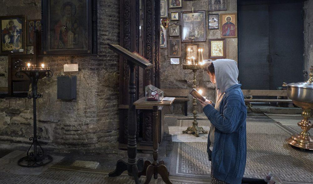 TROENDE: Religion spiller en sentral rolle i georgiernes liv.