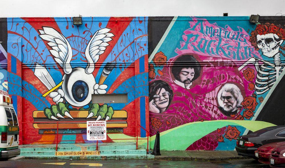 JANIS OG JIMI: Samt Andy Garcia – musikere sterkt forbundet med flower power-bevegelsen i San Francisco.