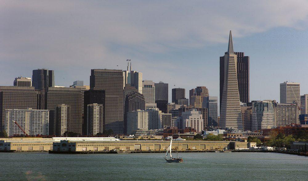 FRA FANGEØYA: Byen sett fra Alcatraz.