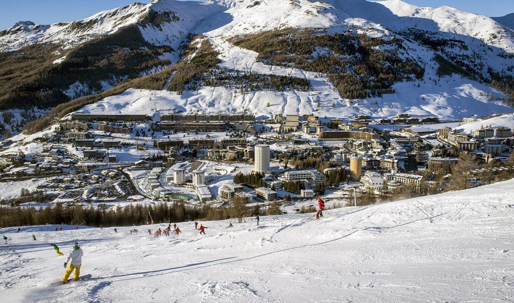 SESTRIERE: Skiområdet vest for Torino kan huse opptil 30 000 besøkende.
