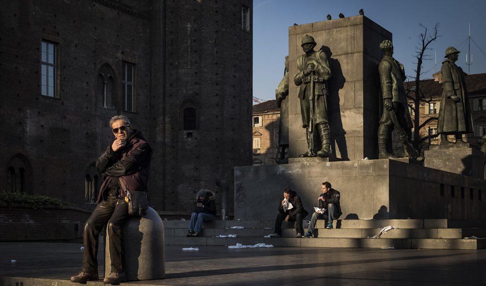 MAKTSENTER: Torino var Italias første hovedstad, hvor også kongen holdt hus. Her fra baksiden av Piazza Castello, som ligger rett vis a vis kongeresidensen.
