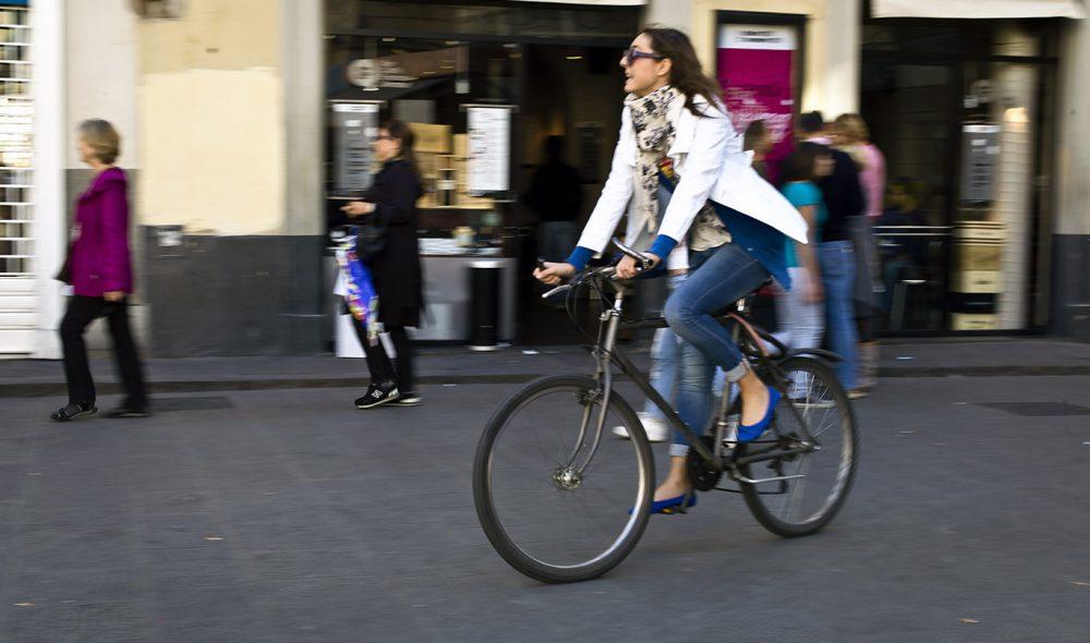 BRUK TOHJULING: Sykkelen er et populært fremkomstmiddel, og er også velegnet til å utforske det vakre landskapet rundt Firenze.