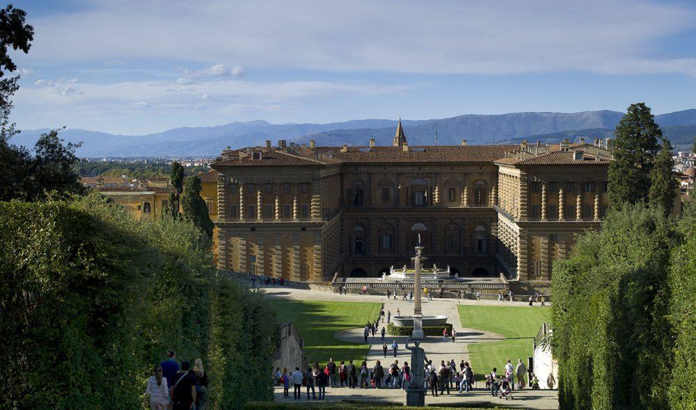 PITTIPALASSET: Bobolihagen rett sør for Pitti-palasset er et suverent rekreasjonsområde like utenfor for sentrum av byen.