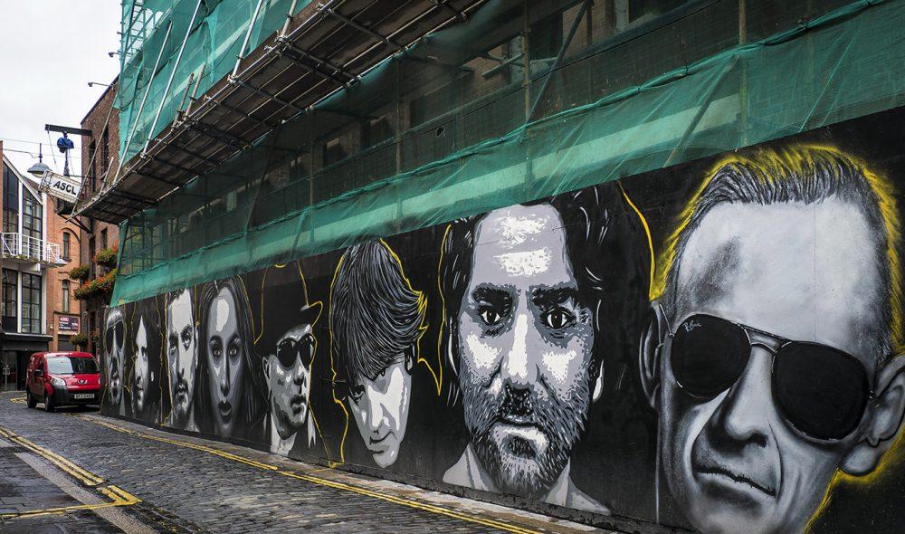 IKON: Fotballspilleren George Best er fortsatt å finne rundt i bybildet i Belfast.
