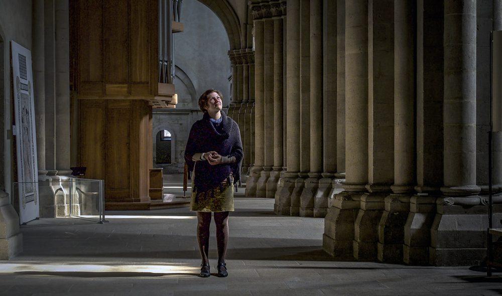 STORSLÅTT: Naumburgs rike handelsmenn gjorde det mulig å bygge en imponerende katedral Kirsten Reichert og tusener av andre besøkende kommer langveisfra for å oppleve.